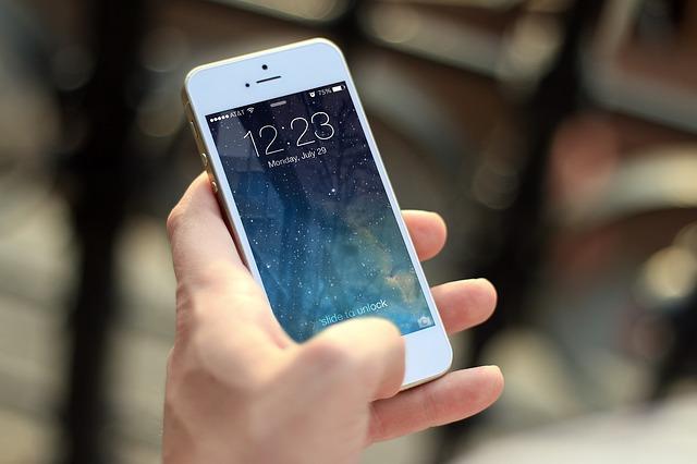iPhone用デニム手帳型スマホケース